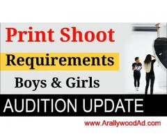 NEW FRESHER GIRL AND BOYS REQUIRED FOR WORK IN TV SERIAL\FILM AND SHOOT \Print shoot