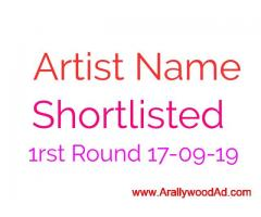 For Arallywood Telefilm Owned Inhouse project 1rst round shortlisted Artist name Published on 17-09-