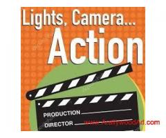 Required Actors, Actress, Writter, Director, Cameraman with Camera, Lights setup, Sound setup, Makeu