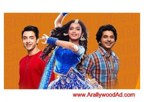 """zee tv channel running tv show """" dil ye ziddi hai """" collage student characters"""