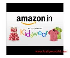 Confirm work in Amazon  print shoot e-commerce for kids garments